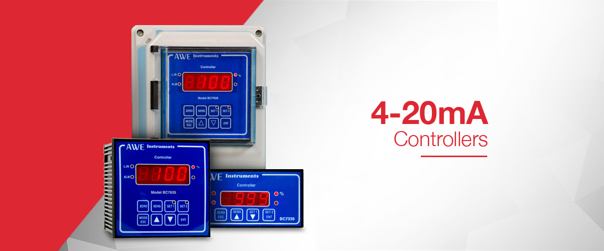 4-20mA controller which provides 2 x relays, alarm relay and 4-20mA isolation and retransmission all from a single incoming 4-20mA signal
