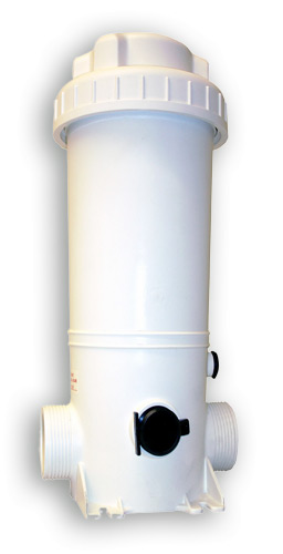 Inline chemical feeder K920 with capacity of 3.3Kg for treating up to 95'000 litres of water.