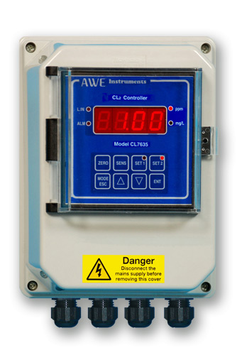 Surface mounted chlorine controller CL7635W
