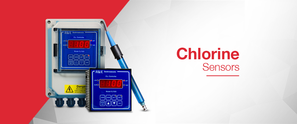 Chlorine Sensor for the measurement of chlorine in both PPM and Mg/L