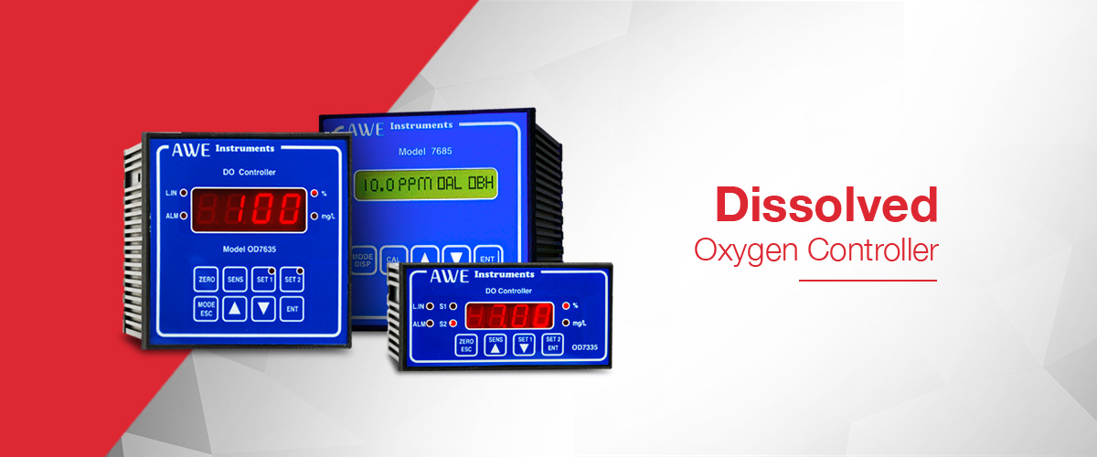 Dissolved Oxygen controller for the measurement of dissolved oxygen and with output relays to control processes based on the measured dissolved oxygen value