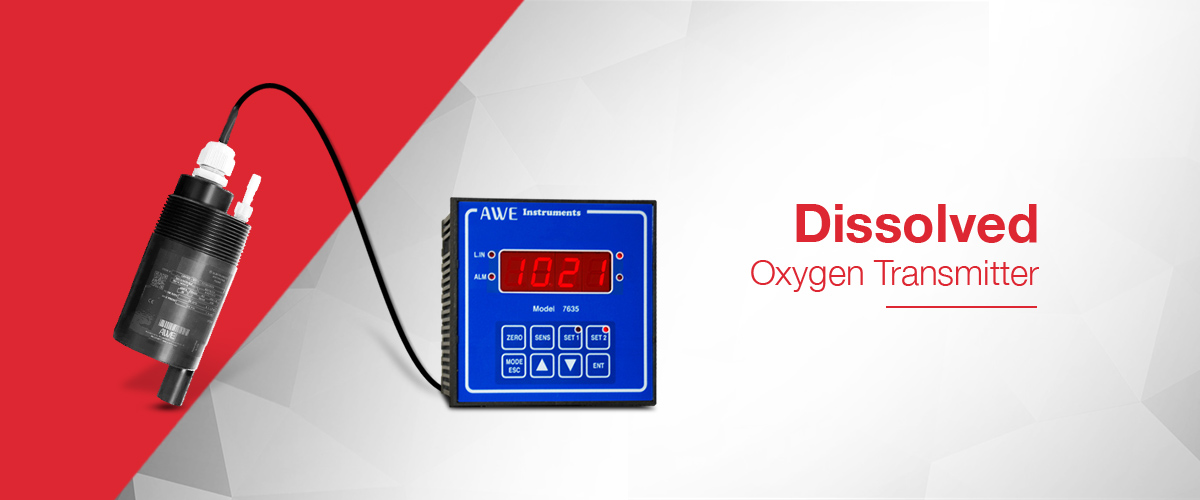 Dissolved Oxygen Transmitter which generates a 4-20mA output signal proportional to the measured dissolved oxygen value