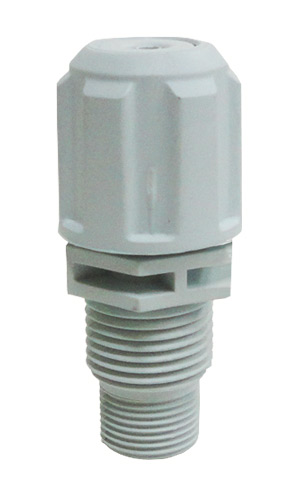 PVC injection valve 8x12mm with integral non-return valve