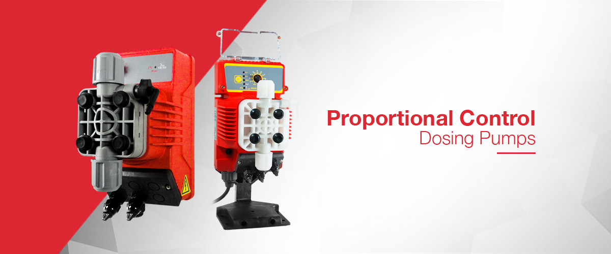 Proportional control dosing pump range where the number of strokes or speed of the dosing pump can be automatically controlled from a pulsed input or 4-20mA input signal