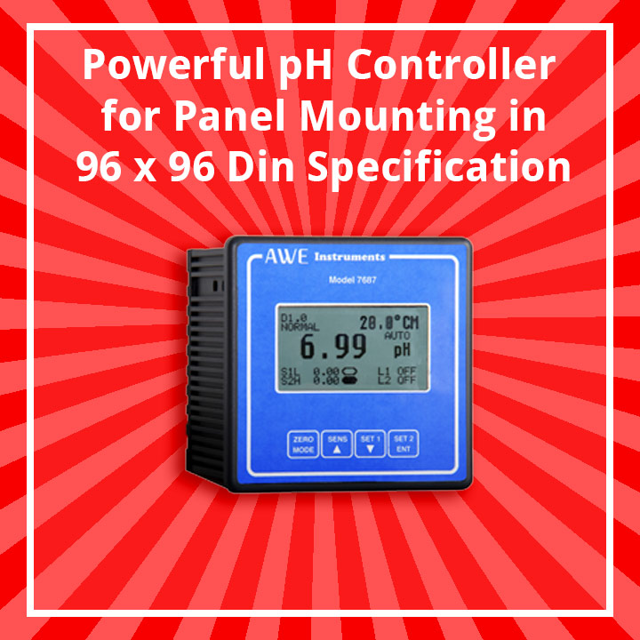 panel mounted PID pH Controller P7687