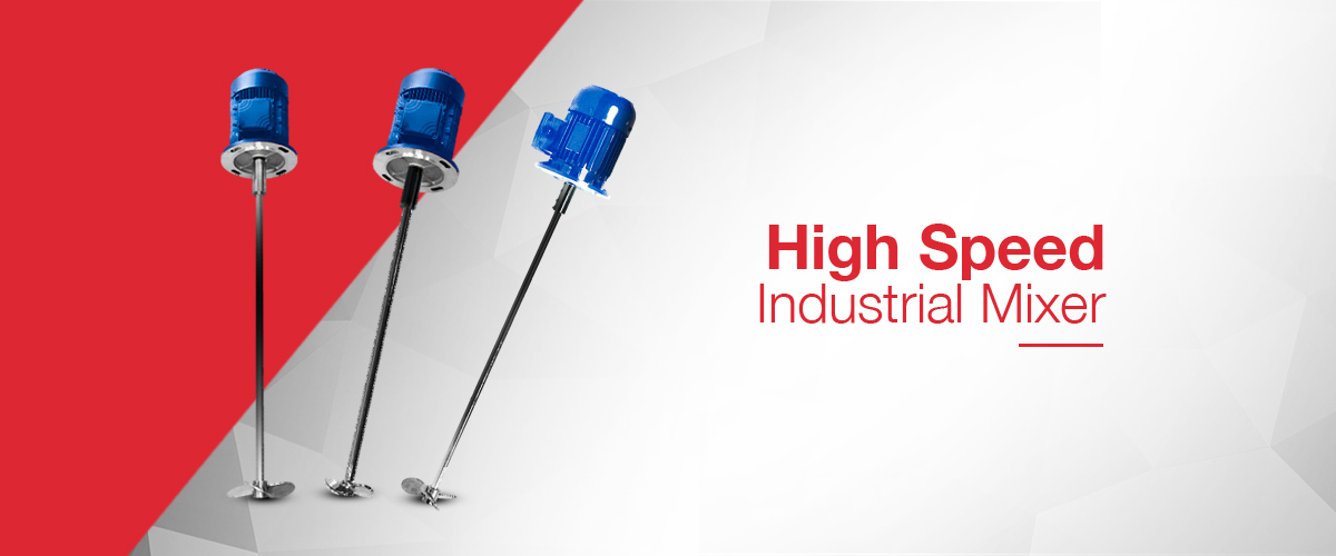 High speed direct drive industrial mixers for the mixing and blending of chemical reagents in industrial applications