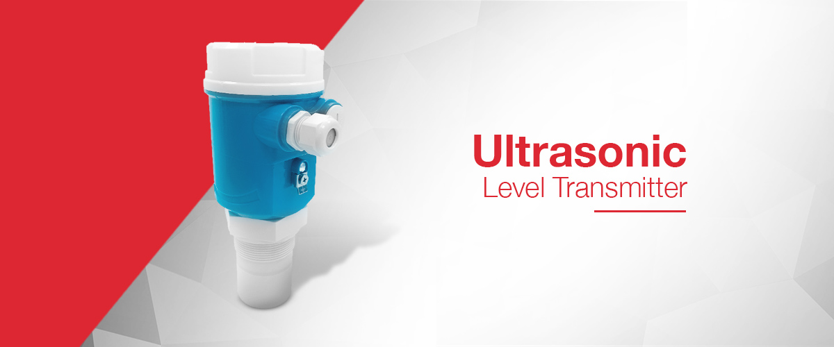Ultrasonic level transmitter range which outputs a 4-20mA signal proportional to the level of liquid in a tank or vessel.