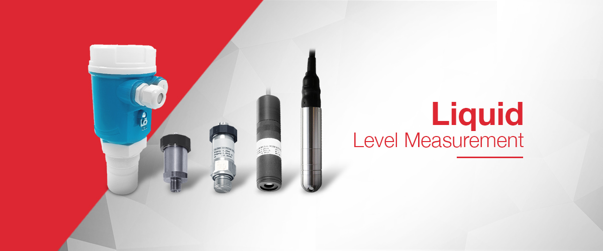 Liquid Level Measurement instruments including ultrasonic level transducers and hydrostatic level transmitters