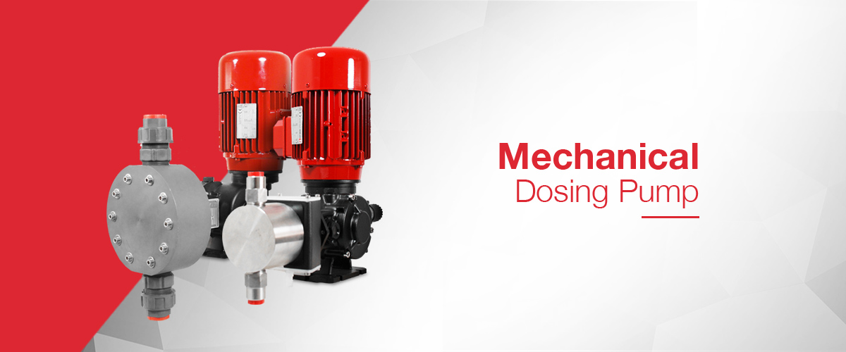 Mechanical Dosing Pump range including piston plunger type dosing pumps and mechanical diaphragm dosing pumps