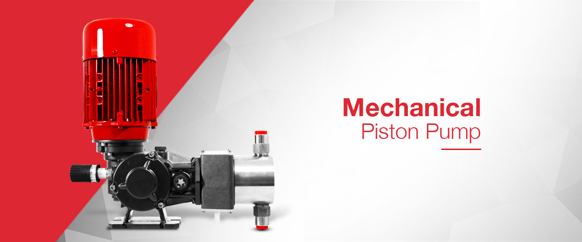 Mechanical Piston Dosing Pump for flow rates up to 1000 Litres / Hour