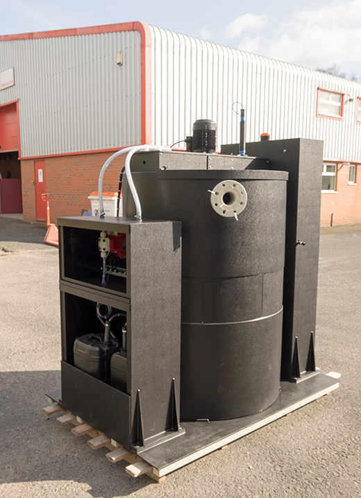 Turn key pH correction system for the treatment of waste water