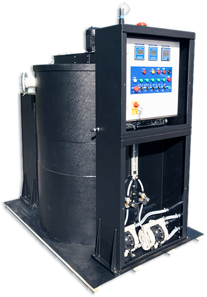 pH neutralisation system for waste-water