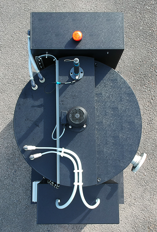skid mounting ph correction system for treating waste water
