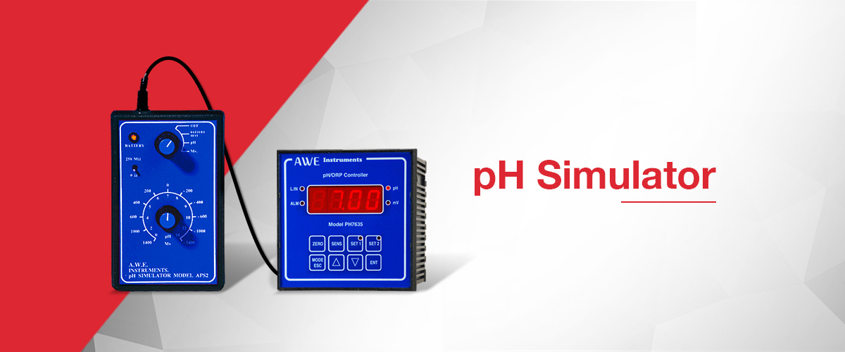 pH simulator which generates the same electrical signal as pH electrode for equipment testing