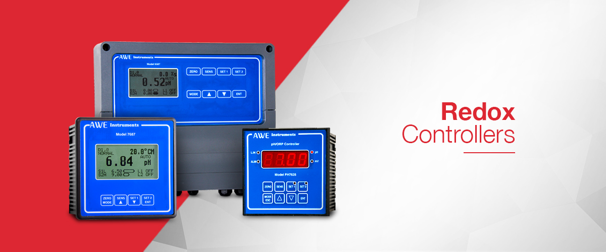 Redox controller range from AWE Ltd for measuring and controlling Redox or ORP in a process