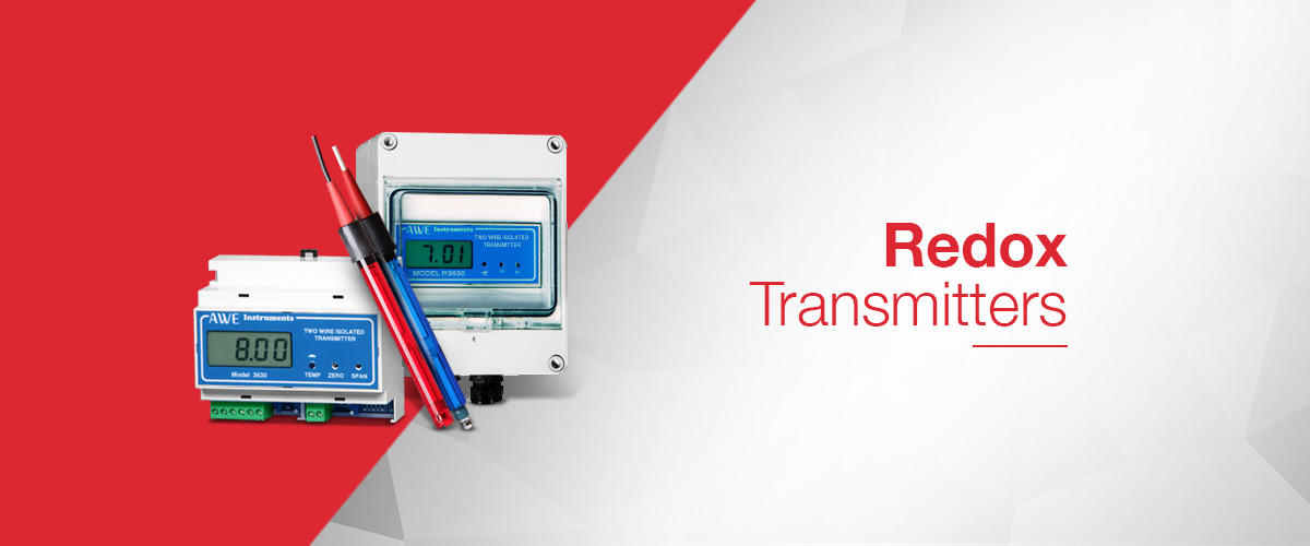 Redox transmitter for measuring Redox / ORP in a process and transmitting a 4-20mA signal