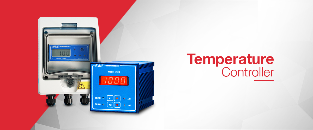 Temperature controller range from AWE Ltd for the measurement and control of temperature in process applications