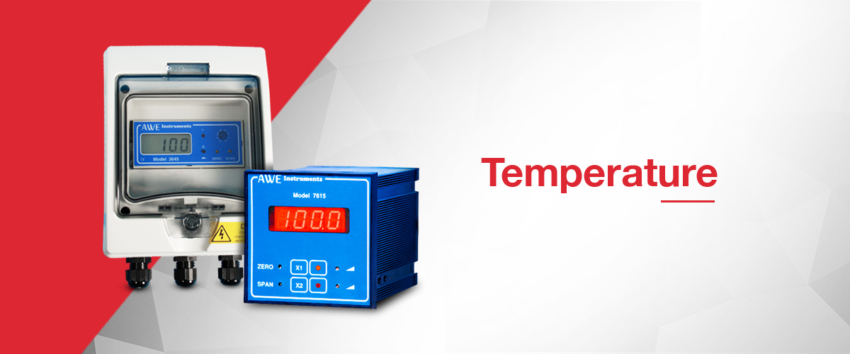 Temperature sensors and temperature controllers for process control applications.