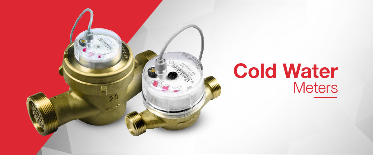 Cold water meter range with digital output and flow totalisation