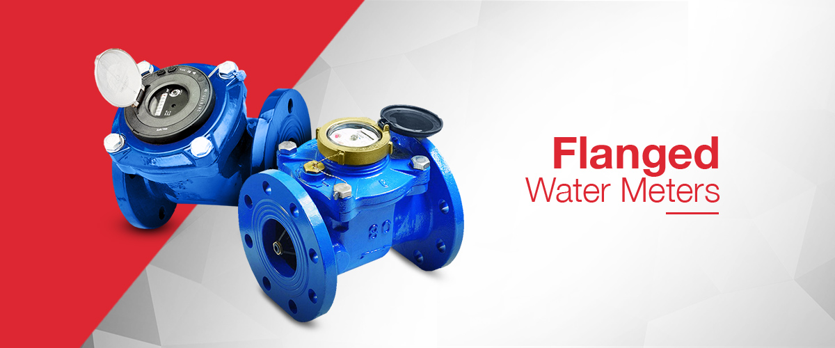 Flanged water meter and Woltmann Water Meter range with pulsed output and flow totalisation